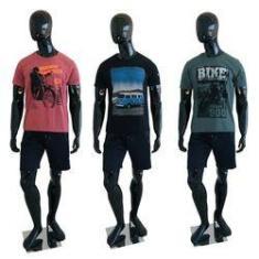 Imagem de Kit Com 3 Camisetas Estampadas Masculinas