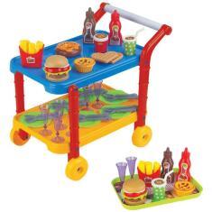Imagem de Carrinho Infantil Gourmet Com Acessórios Doceria Fenix