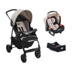 Imagem de Carrinho Ecco, Bebê Conforto e Base  Capuccino  Burigotto