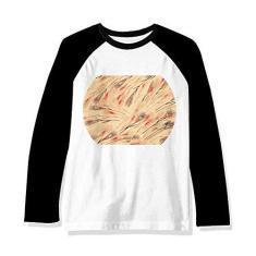 Imagem de Camiseta de manga comprida com estampa japonesa e grafite, Multicor, XL