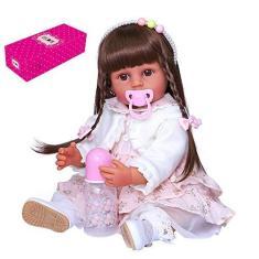Imagem de Zwbfu 22 polegadas 55 cm Boneca Reborn Silicone Corpo Inteiro Bonecas de Banho Fofas Bonecas Bonecas de Bebê Conjunto de Presentes com Vestido  e  Princesa