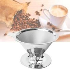 Filtro de Café Aço Coador Inox Reutilizável Permanente Ecológico