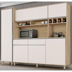 Imagem de Cozinha Compacta 2 Gavetas 6 Portas Brasil Csa Móveis