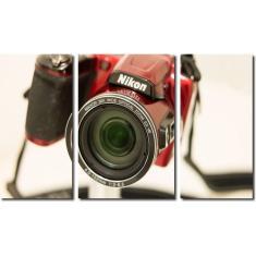 Imagem de Quadro decorativo para quartos e salas maquina fotográfica nikon 3 peças