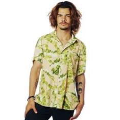 Imagem de Camisa Folhagens Estampada ElephunK Bananeira Bege