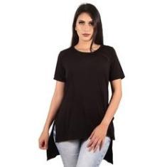 Imagem de Comprar Camisas Blusas Roupas Femininas Long Line Camiseta