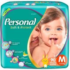 Fralda Personal Soft e Protect Tamanho M 90 Unidades Peso Indicado 5 - 9,5kg