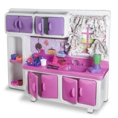Imagem de Jogo Pia Cozinha Infantil Completa Armarios Lua de Cristal