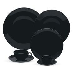 Aparelho de Jantar Redondo de Porcelana 42 peças - Coup Black Oxford Porcelanas