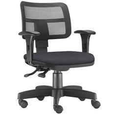 Cadeira Giratória Zip L02 Executiva Ergonômica Escritório Crepe  - Lyam Decor