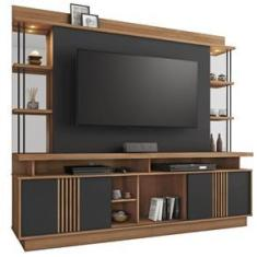 Imagem de Estante Para Tv Até 65 Polegadas 2 Portas Esplendor Noronha/grafite - Jcm Moveis