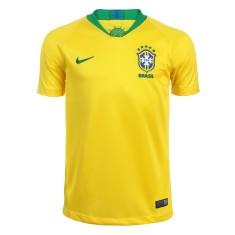 Camisa Infantil Brasil I 2018 19 sem Número Torcedor Masculino Nike 2c5f86120ba