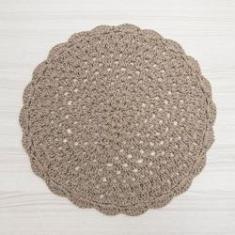Imagem de Sousplat de Crochê 40cm Bege - Crochê Nene Veronez
