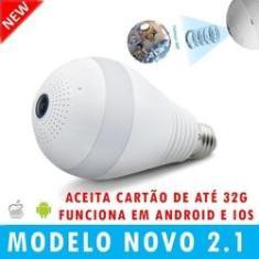 Imagem de Lampada V380 Espiã Câmera Panorâmica Wi-Fi VISÂO 360º App