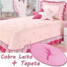 Imagem de Kit Cobre Leito com Tapete e Almofadas Bailarina