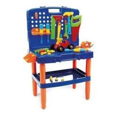 Imagem de Bancada Maleta Ferramenta Brinquedo Menino Infantil Didático