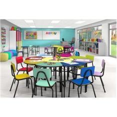 Imagem de Conjunto Escolar Oitavado Margarida Infantil Colorido