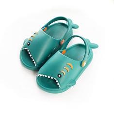 Imagem de Sandálias de praia dos desenhos animados infantil Jardim Lightweight Open Toe Slides Sandálias Shark Forma Sapatos para Menino Menina