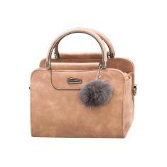 Imagem de Bolsas outono inverno feminino tipo esfoliante bolsa exclusiva com pingente de bola de pele