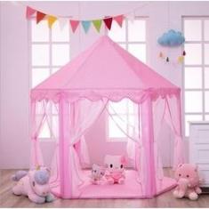 Imagem de Castelo Princesa Tenda Cabana Toca Rosa Infantil Barraca