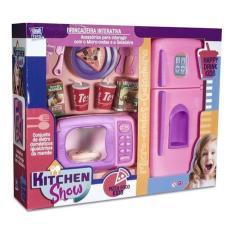 Imagem de Cozinha Infantil Kitchen Show Geladeira Micro Ondas Brinqued