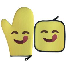 Imagem de Luva Térmica Para forno Emoji Delícia Presente Criativo Geek