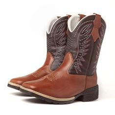 Imagem de Bota Texana Country Masculina Cano Longo Cowboy Marrom (40)