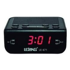 Imagem de Rádio Relógio Digital AmFm Temporizador Bivolt Le-671 Lelong