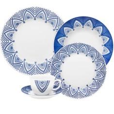 Aparelho de Jantar Redondo de Porcelana 30 peças - Flamingo Milano Oxford Porcelanas