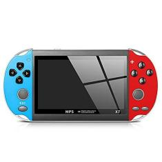 Imagem de XUANWEI Console de videogame portátil X7 8GB PSP Video Gameconsole Player integrado Consola de videogame portátil Console de videogame com joystick duplo portátil