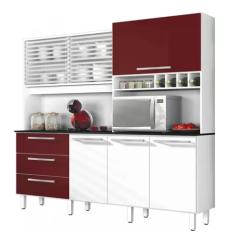 Cozinha Completa 3 Gavetas 6 Portas para Micro-ondas / Forno Mega Zanzini Siena Móveis