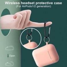 Imagem de Ultra-fino capa protetora sem fio bluetooth anti-risco silicone macio fone de ouvido capa protetora