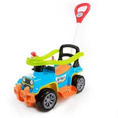 Imagem de Carrinho De Passeio Criança Infantil Com Empurrador Quadriciclo Jip Jip Maral Colorido