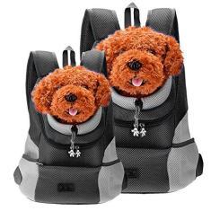 Imagem de CozyCabin Mochila de viagem estilo mais recente confortável para cães e gatos, bolsa de transporte frontal para pequenos cães, transporte de bicicleta, caminhadas ao ar livre (GG, )
