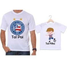 Imagem de Camisetas Tal Pai Tal Filho Futebol Time Bahia