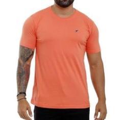 Imagem de Camiseta Laranja Masculina Básica Algodão Bamborra