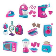 Imagem de Kit Com 9 Itens Cozinha E Limpeza Infantil Usual Brinquedos