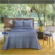 Imagem de Kit cobreleito casal linha Home Design 150 fios estampa Luck - Santista