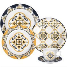 Imagem de Aparelho de Jantar Redondo de Porcelana 20 peças - Floreal 128080759 Oxford Porcelanas
