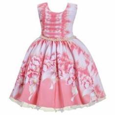 Imagem de Vestido Infantil Tie Dye  Aniversário Festa Luxo 1 Ao 16