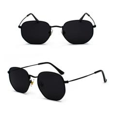 Imagem de Óculos Hexagonal Feminino Masculino De Luxo