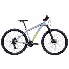Bicicleta Mountain Bike Caloi 27 Marchas Aro 29 Suspensão Dianteira Freio a Disco Hidráulico Atacama Flex
