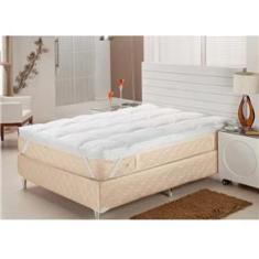 Imagem de Pillow Top Solteiro Plumasul Fibra Siliconizada em Flocos Percal 233 fios -