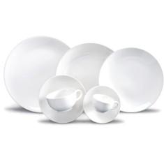 Aparelho de Jantar Redondo de Porcelana 20 peças - Coup White Oxford Porcelanas