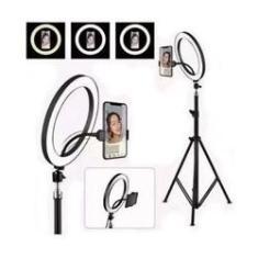 Imagem de Iluminador Ring Light Youtuber Maquiagem 10 Polegadas 26cm Usb Led Tripé