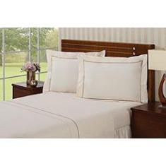 Imagem de Jogo de Cama King Premium Palace 4 Peças 100% Algodão Percal 233 Fios - Plumasul