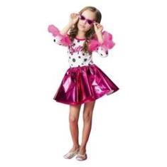 Imagem de Fantasia Anos 60 Infantil Vestido Pink