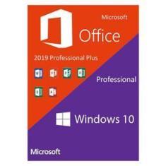 Combo com Chave de Ativação Licença - Windows 10 Pro + Microsoft Office Pro Plus 2019