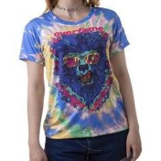 Imagem de Camiseta Baby look feminina Lobisomem Tie dye md41