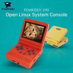 Imagem de Powkiddy-console de jogos portátil v90 com tela ips, 16 simuladores, sistema dual aberto, retrô ps1,
